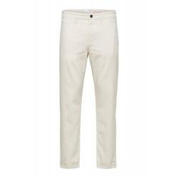 Pantalon Coton lin beige...