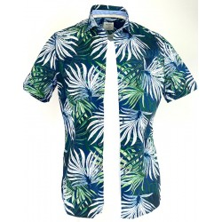 Chemise MC Feuilles Olymp SS20